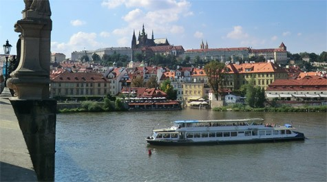 Party on a boat in Prague